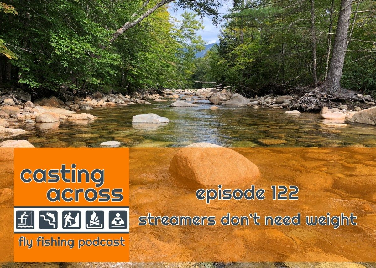 Podcast Ep 122 Streamers Don T Need Weight Casting Across In 2021 Fly Fishing Fly Fishing Tips Fishing Tips