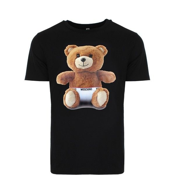 ea84ab4c3 Moschino Mens Teddy Bear T-Shirt ( 135) ❤ liked on Polyvore featuring men s  fashion