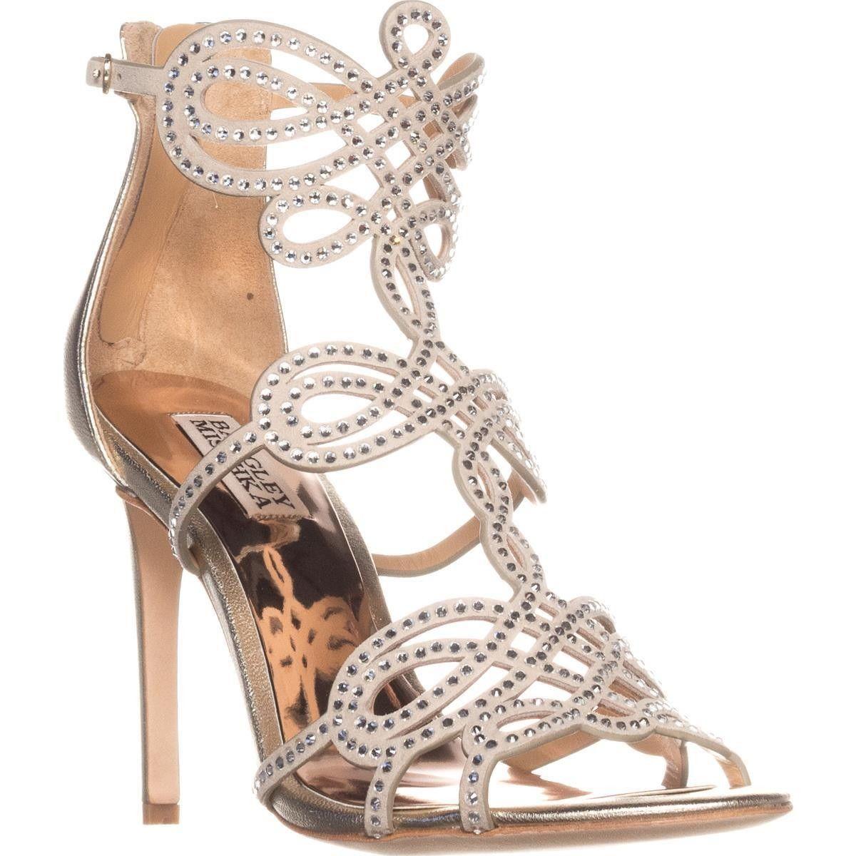 b9aa8addb920 Badgley Mischka Teri Rhinestone T-Strap Sandals