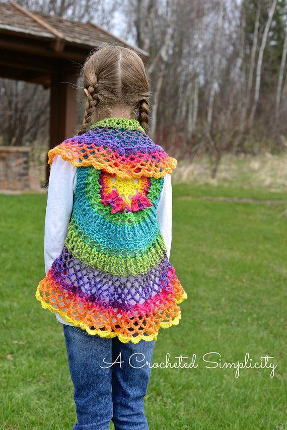 Crochet Pattern Girls Butterfly Mandala Circle Vest Permission To