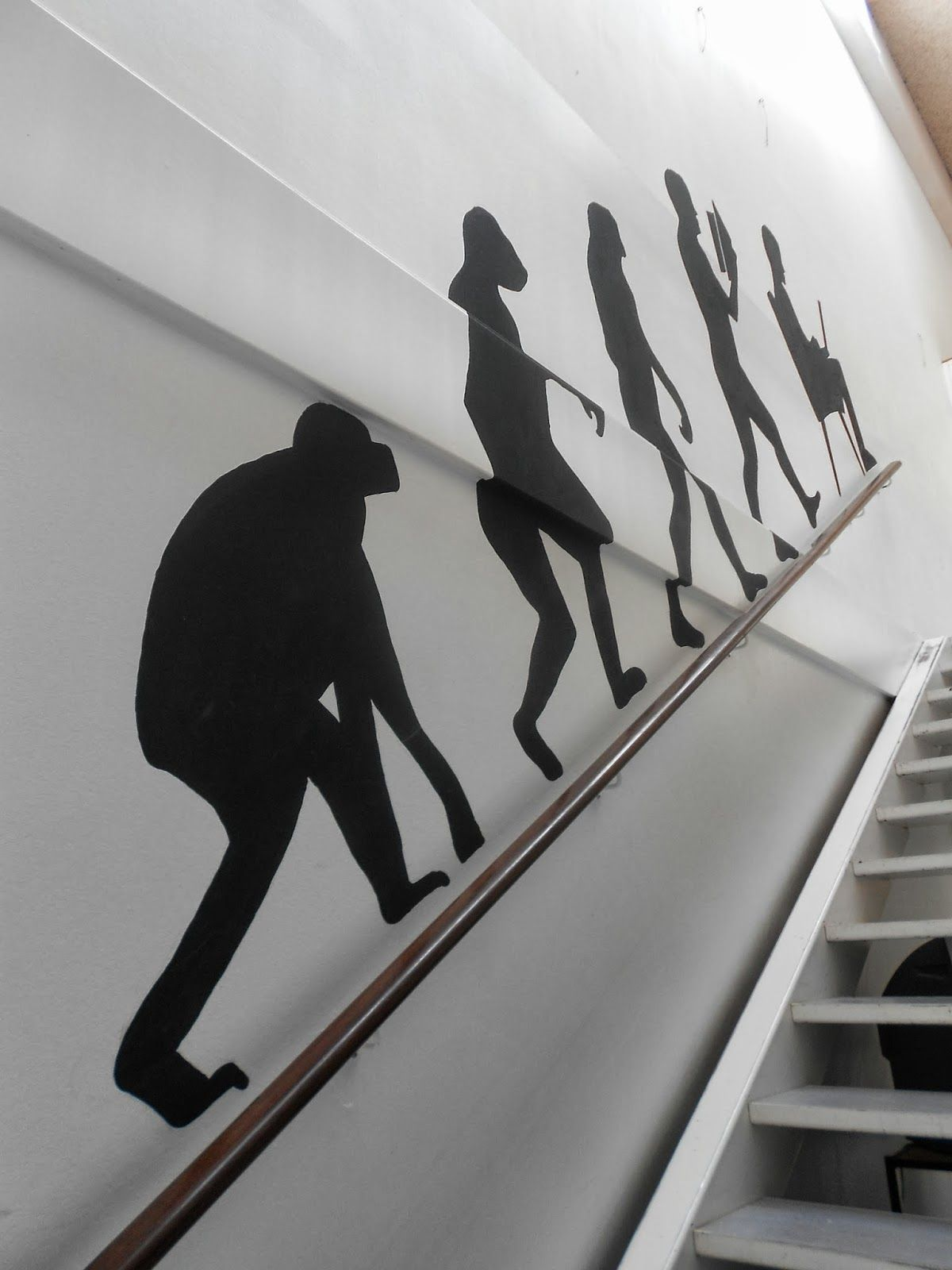 Evolution on the wall. Painting