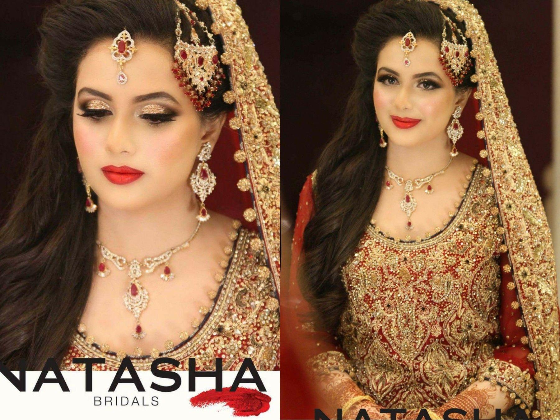 beautiful bridal look on aizah khan by natasha salon karachi makeup by natasha beauty salon