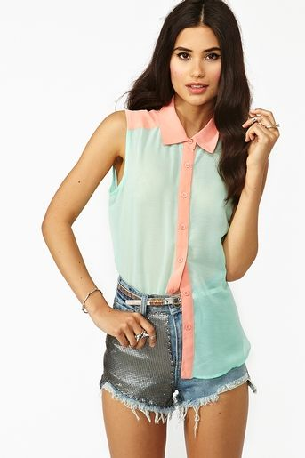 nasty gal cotton candy shirt
