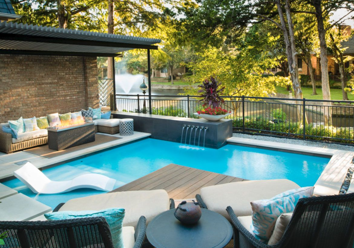 Imposing Backyard Ideas With Pool | Small backyard pools ...