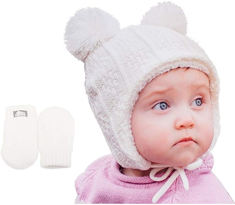 Amazon.com  Baby Toddler Warm Fall Winter HAT   Mitten Fleece Lined Unisex ( 4818f256844