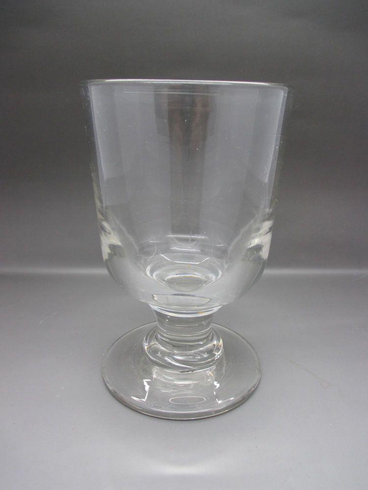 Heavy antique georgian tavern rummer glass with short stem glasses pinterest - Short stemmed wine glass ...