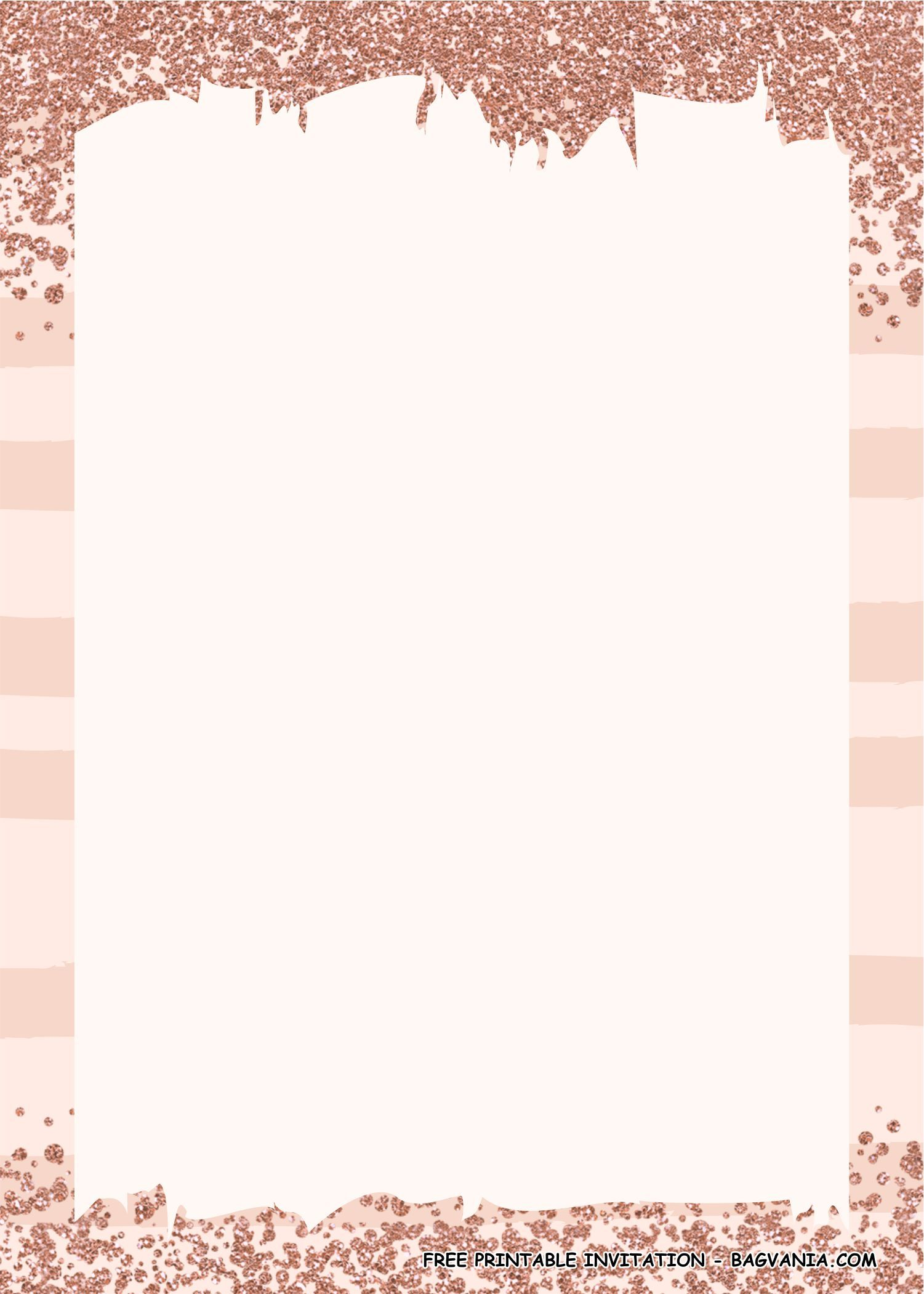 FREE PRINTABLE) - Rose Gold Confetti Birthday Party Kits Template
