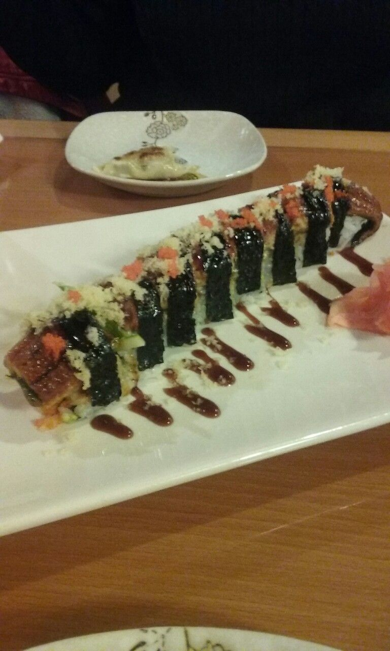 Sushi is definitely life after eating this delightful eel roll at Kim's Sushi