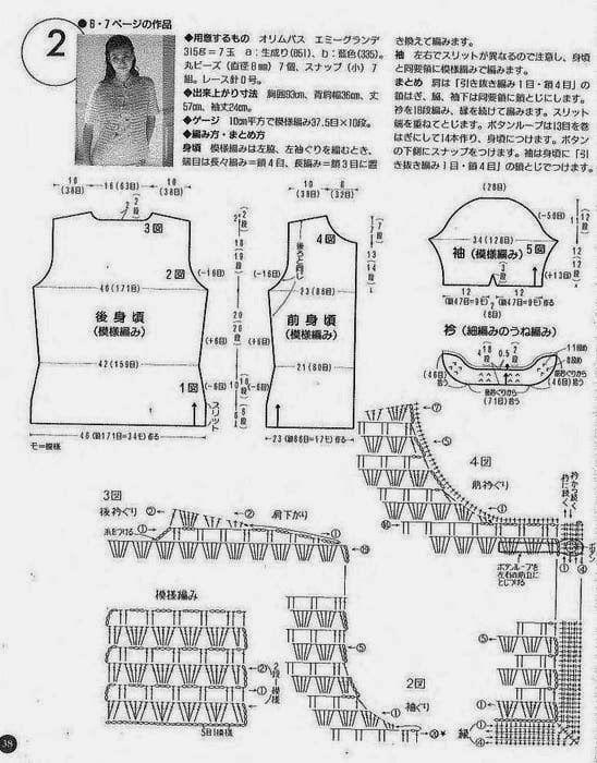 Chaqueta Mao o cuello Abuelo Patron - Patrones Crochet | costura ...
