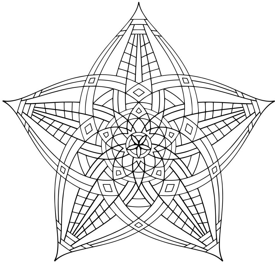 Geometric Coloring Pages Coloring Pinterest Mandala Adult