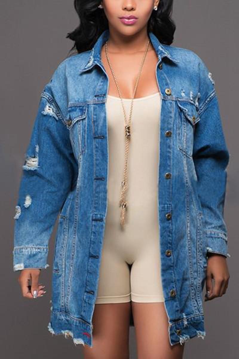 Long Large Size Jean Jacket Women S Denim Coat Distressed Denim Jacket Long Denim Jacket Lined Denim Jacket [ 1200 x 800 Pixel ]