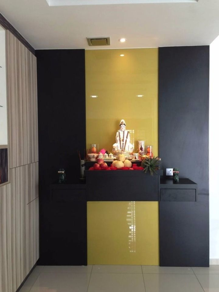 altar simple woodwork plywood laminate goldencarpentry malaysia praying cabinet