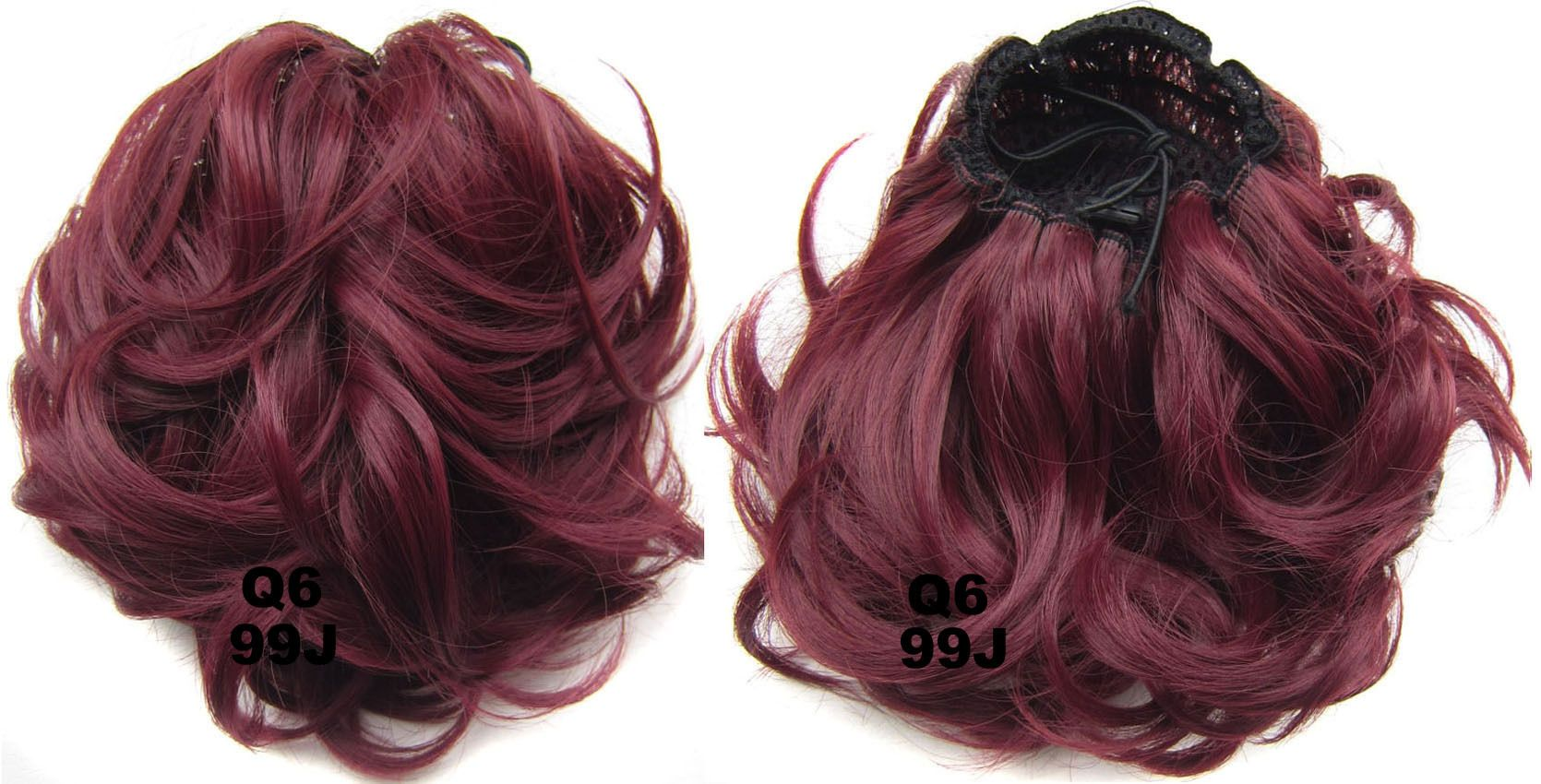 Ladies Elaborate Good Quality Curly And Short Hair Buns Drawstring
