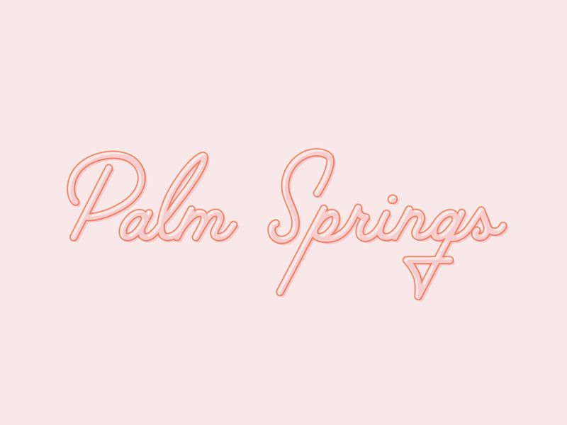 Palm Springs Type Design