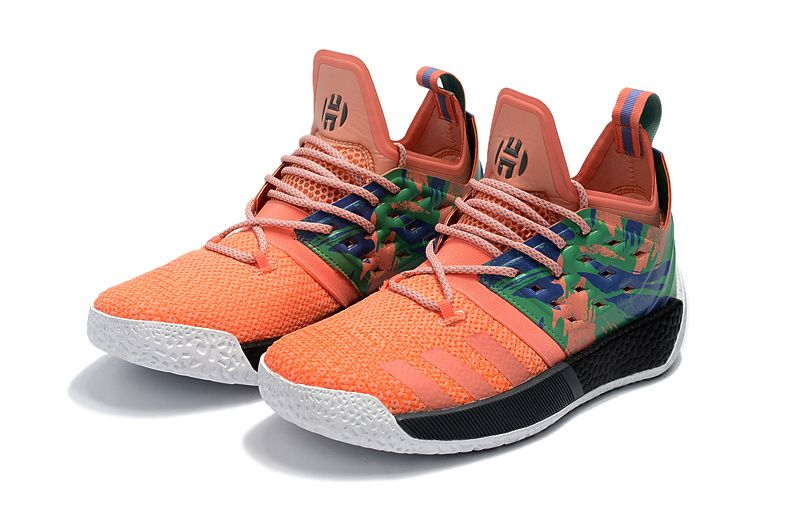 4b8e224af4935c New Harden Sneakers Adidas Harden 2 Boost Basketball Shoes Orange ...