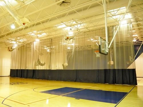 Motorized Gym Divider Divider Facility Gym