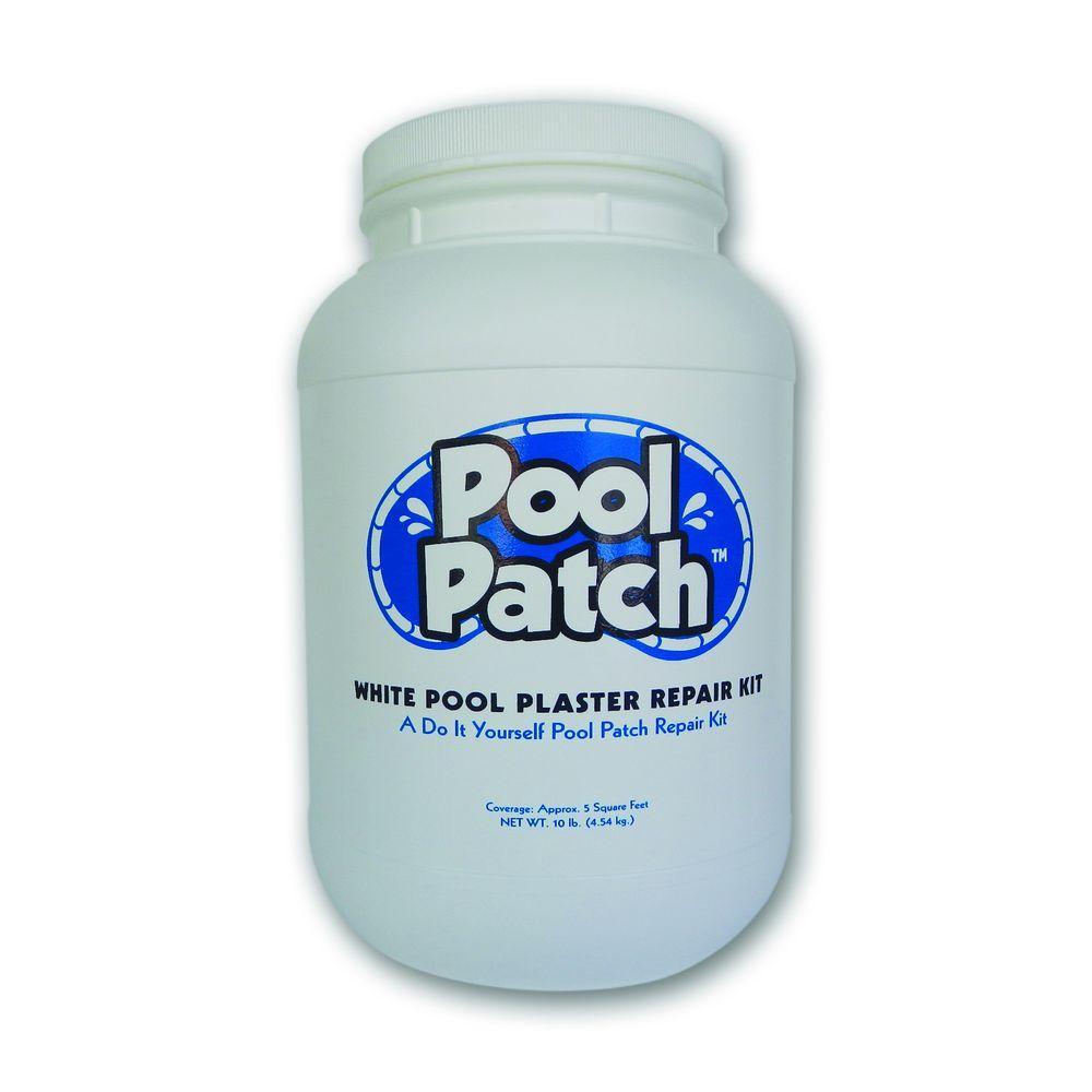 Pool Patch 10 Lb White Pool Plaster Repair Kit Wpp10 The Home Depot Pool Plaster Grout Repair Plaster Repair