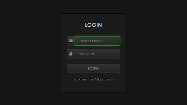How To Create An Animated Glowing Inputs Login Form Design Using Only Html And Css A Login Form Is Used To Enter Login Form Css Tutorial Learn Web Development