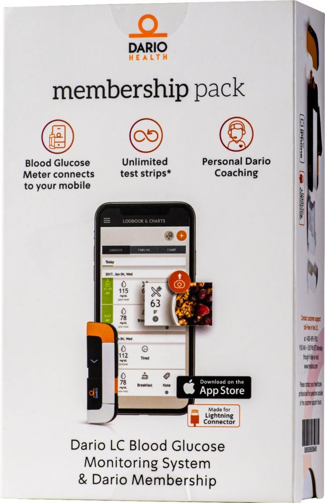 Dario LC Blood Glucose Monitoring System for iPhone