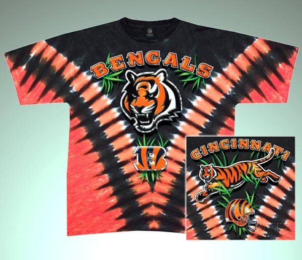 8546e4d7 NFL Cincinnati Bengals Logo Tie Dye T-shirt   Bengals Football ...