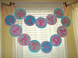The Michaels Family: Birthday Banner