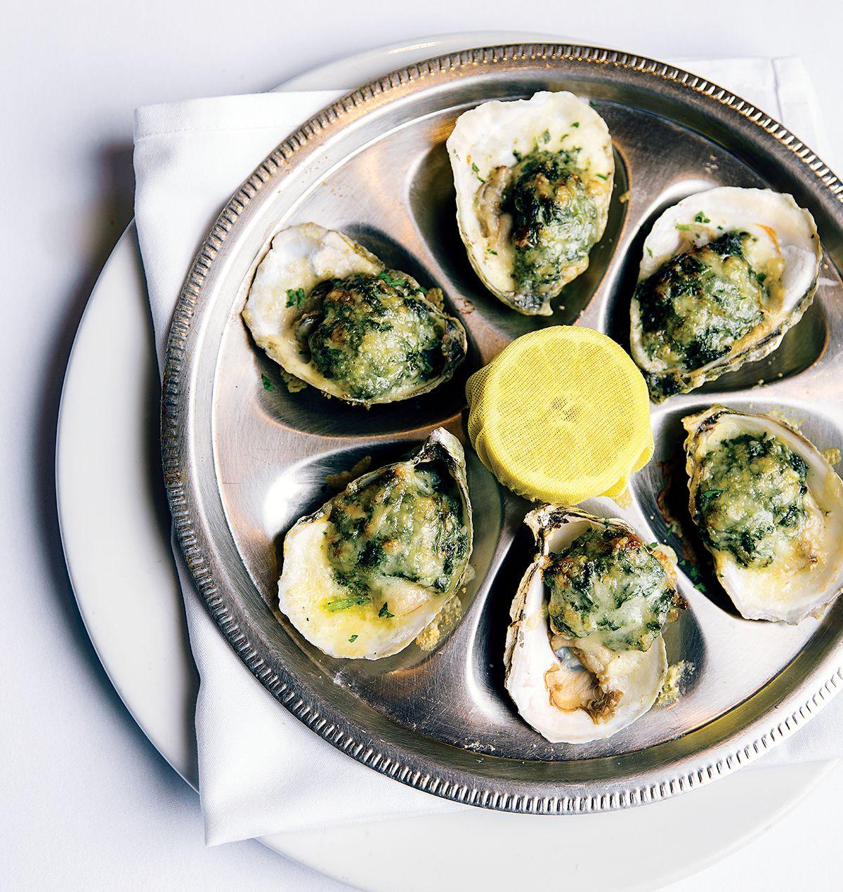 Oysters Rockefeller From Atlantic Fish Restaurants Boston Ma Best Italian
