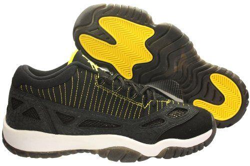 b034c6a48055f3 Youth Nike Air Jordan 11 Retro Low (GS) Black   Zest   White 306006 ...