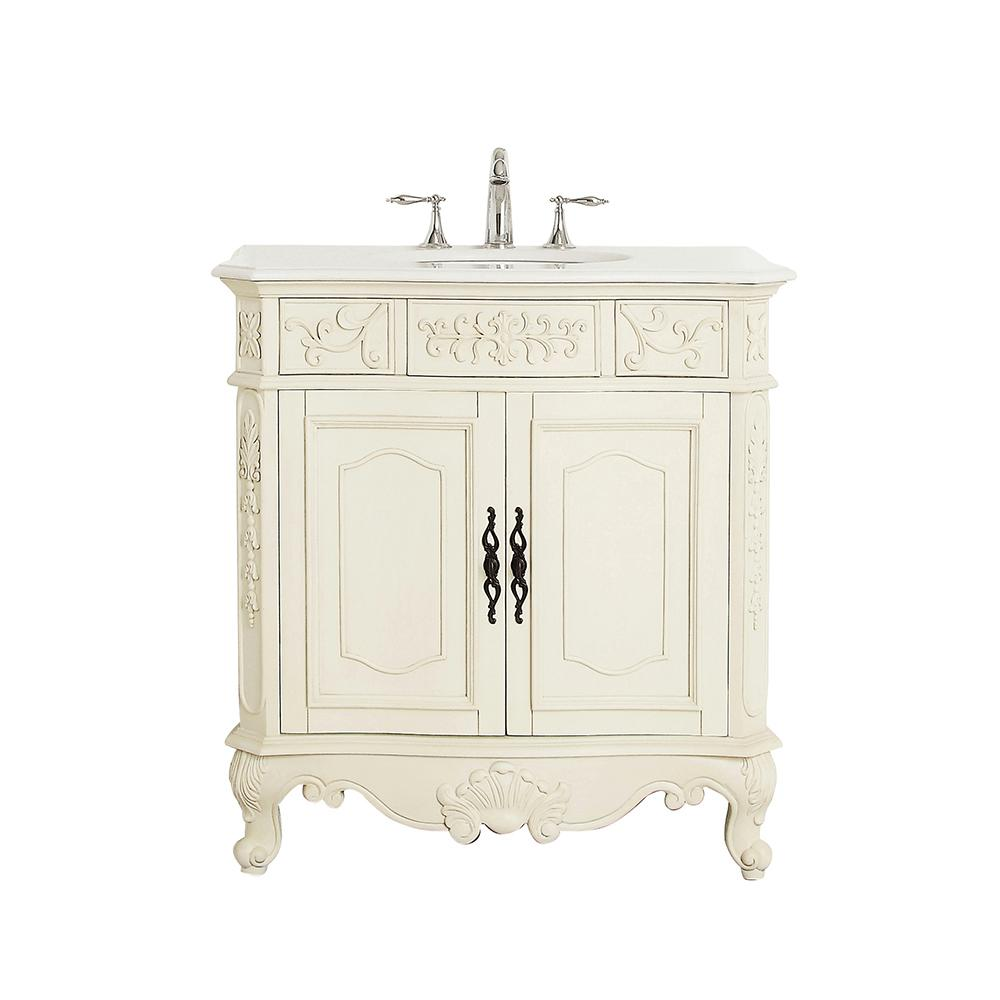 Home Decorators Collection Winslow 33 In W X 22 In D Vanity In