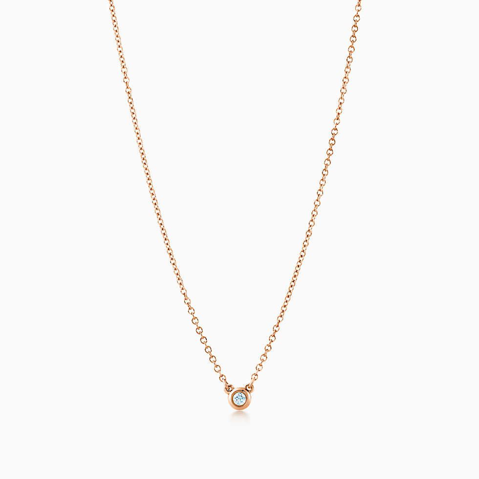 Tiffany solitaire diamond pendant diamond pendant tiffany and tiffany solitaire diamond pendant in 18k rose gold aloadofball Images