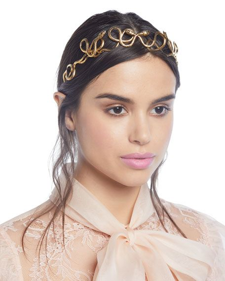 Jennifer Behr Rebekah Snake Crown Headband #crownheadband