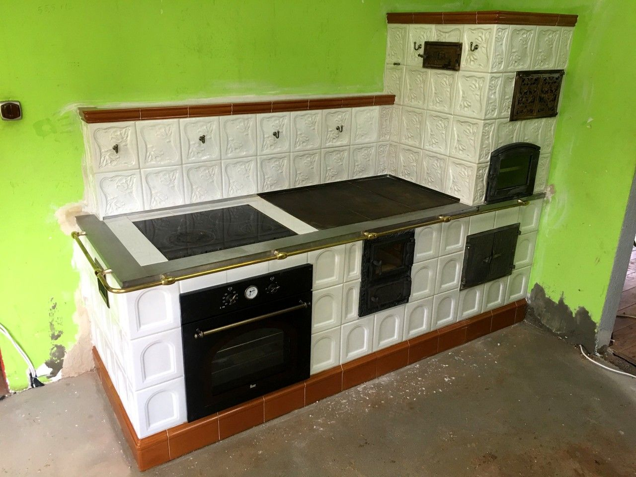 Kuchnia Kaflowa Wall Oven Double Wall Oven Kitchen Appliances