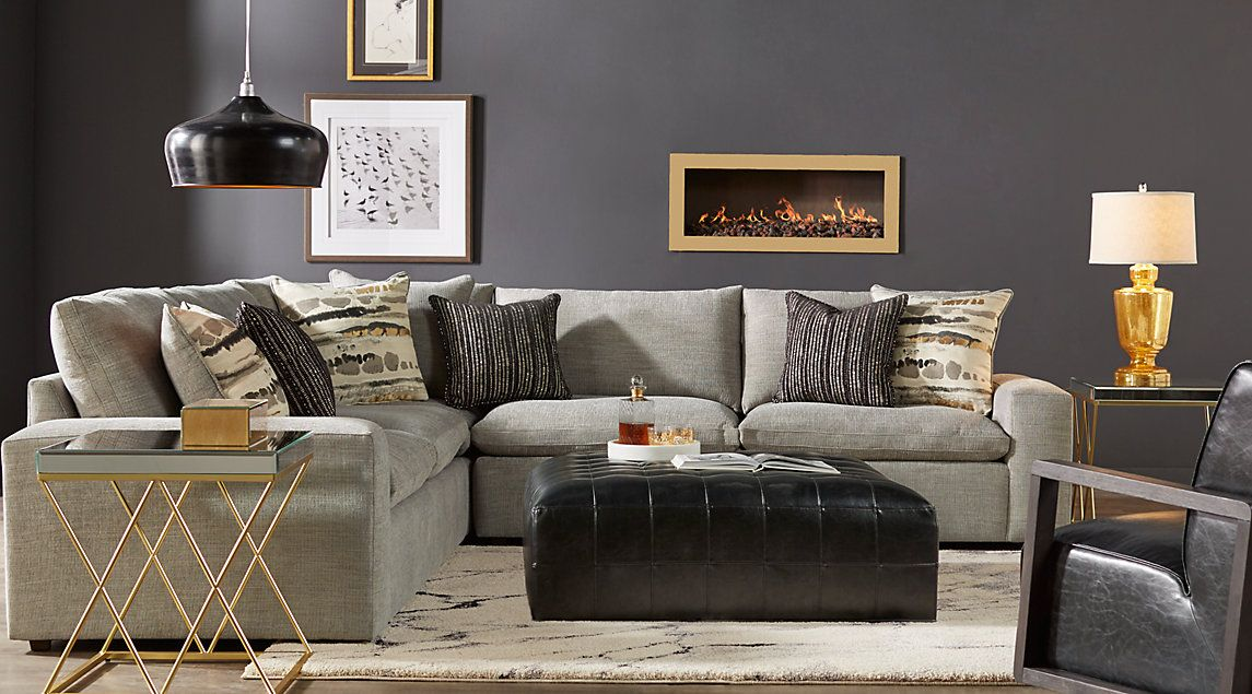 Carnaby Street Gray 3 Pc Sectional Carnaby