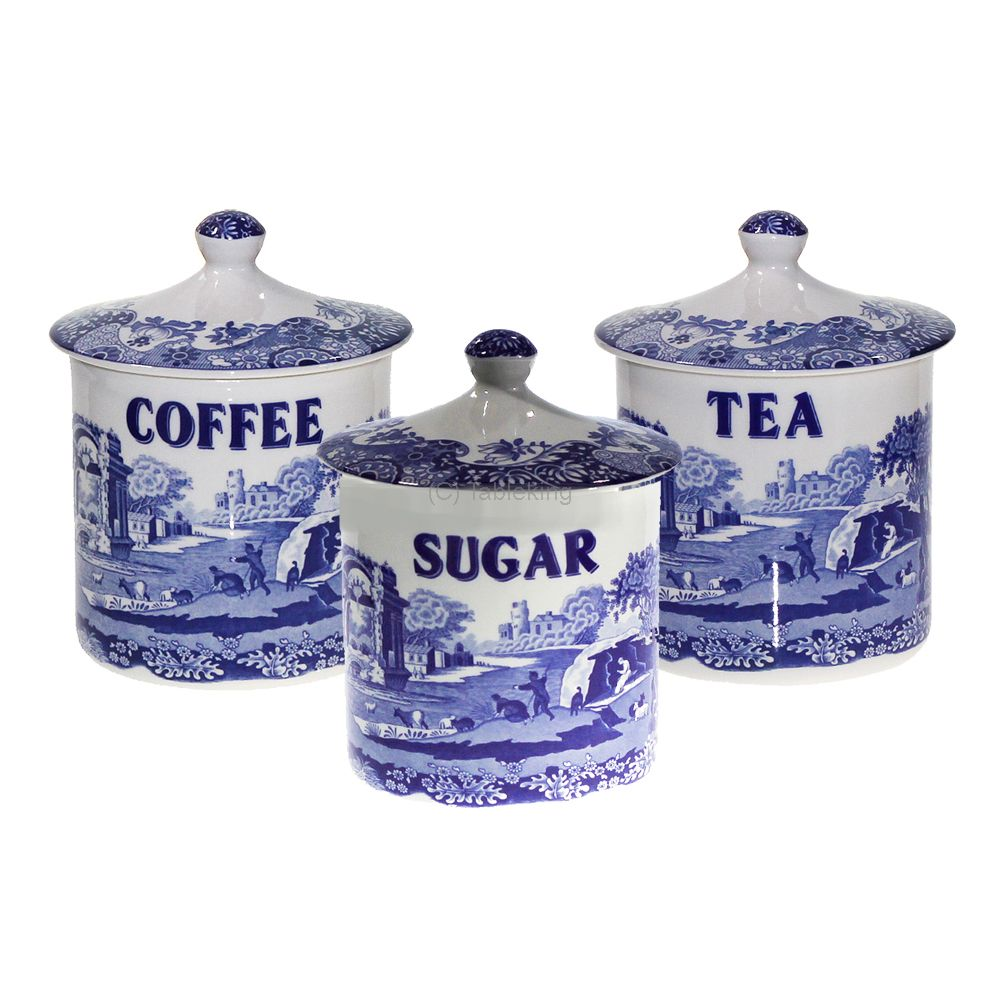 Spode Blue Italian Tea Cup Set - Made in UK - Fast delivery