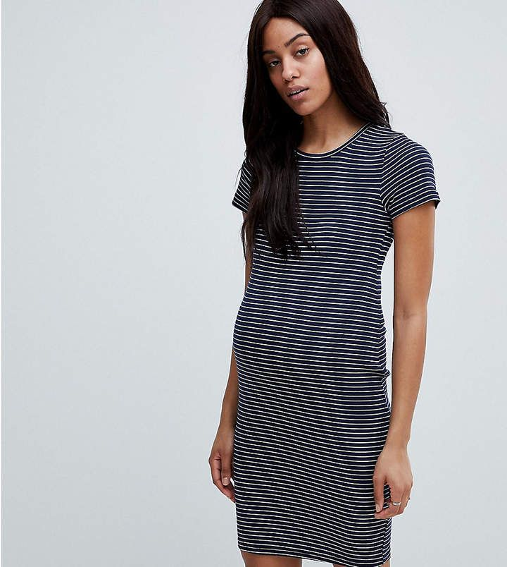 Womens Rib Stripe Jersey Dress New Look Maternity