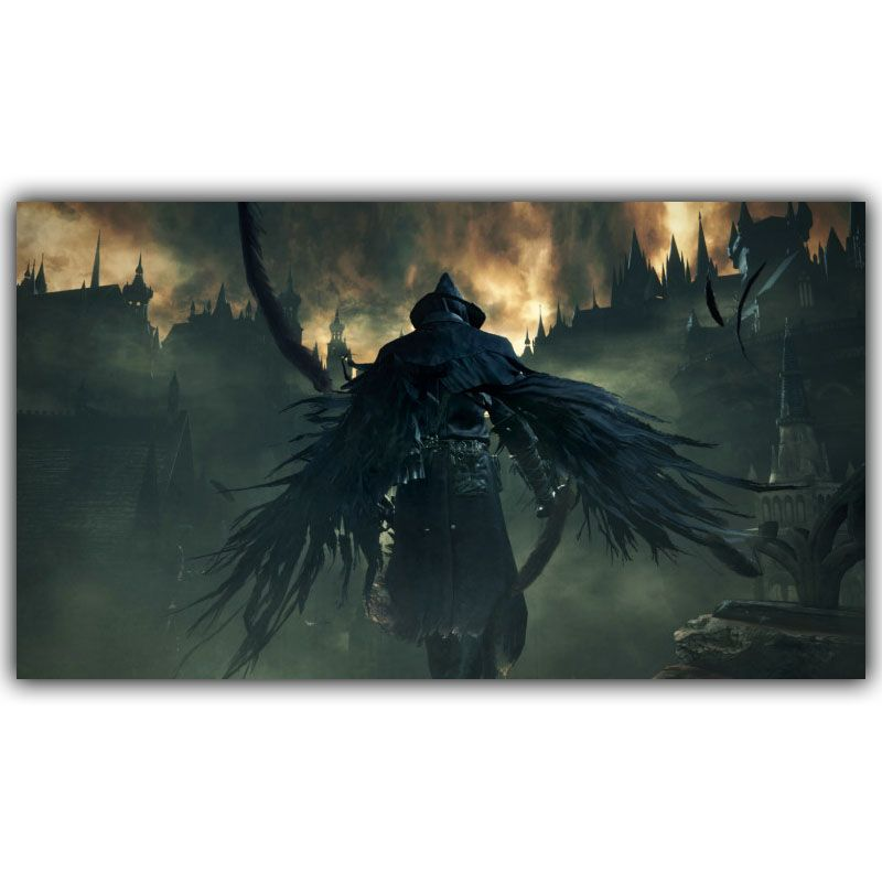 BloodBorne Art Silk Poster Print 12X21 20X35 24X42 inches Hot Game Pictures For Living Room Decor Raven Master Boss YX390