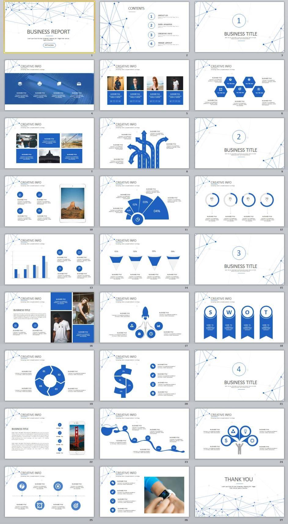 27 blue creative business powerpoint presentations template 27 blue creative business powerpoint presentations template wajeb Choice Image