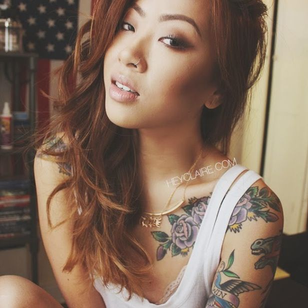 Asian nose piercing