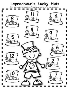St. Patrick's DAY Math GAME Pack: Composing & Decomposing