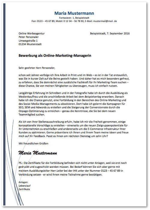 Anschreiben: Muster & Formulierungstipps | Anschreiben, Bewerbung
