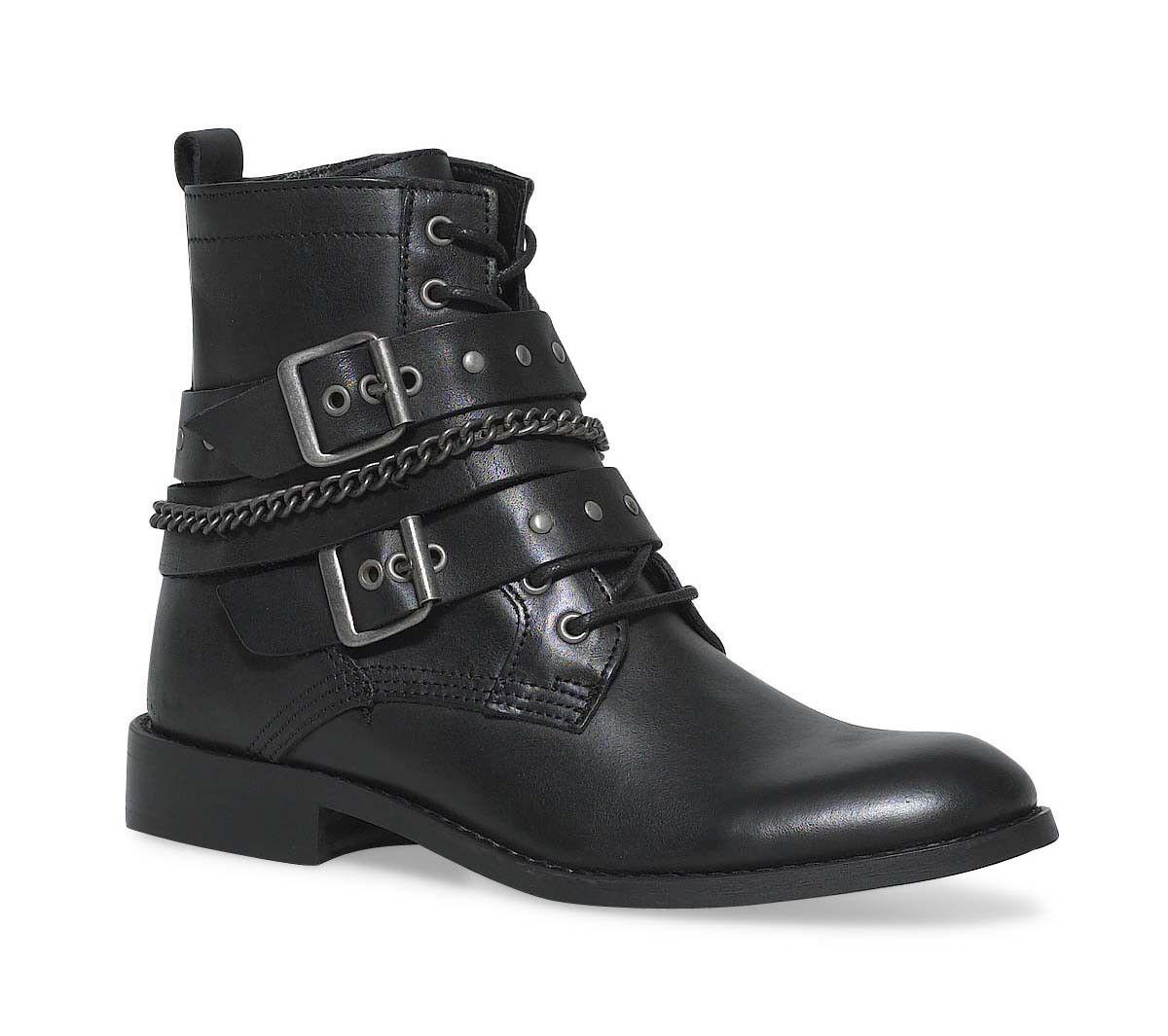 boots noir cuir biker   Boulot wardrobe   Pinterest   Bikers and ... 17dd295b4151
