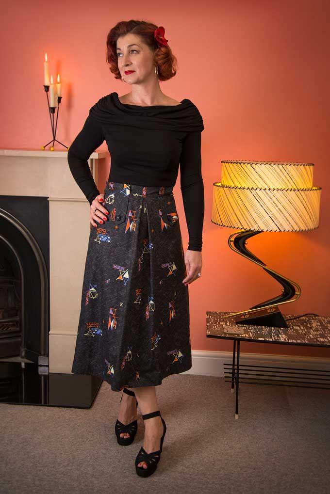 Senora skirt made from my 20th Century Cloth fabric http://www ...
