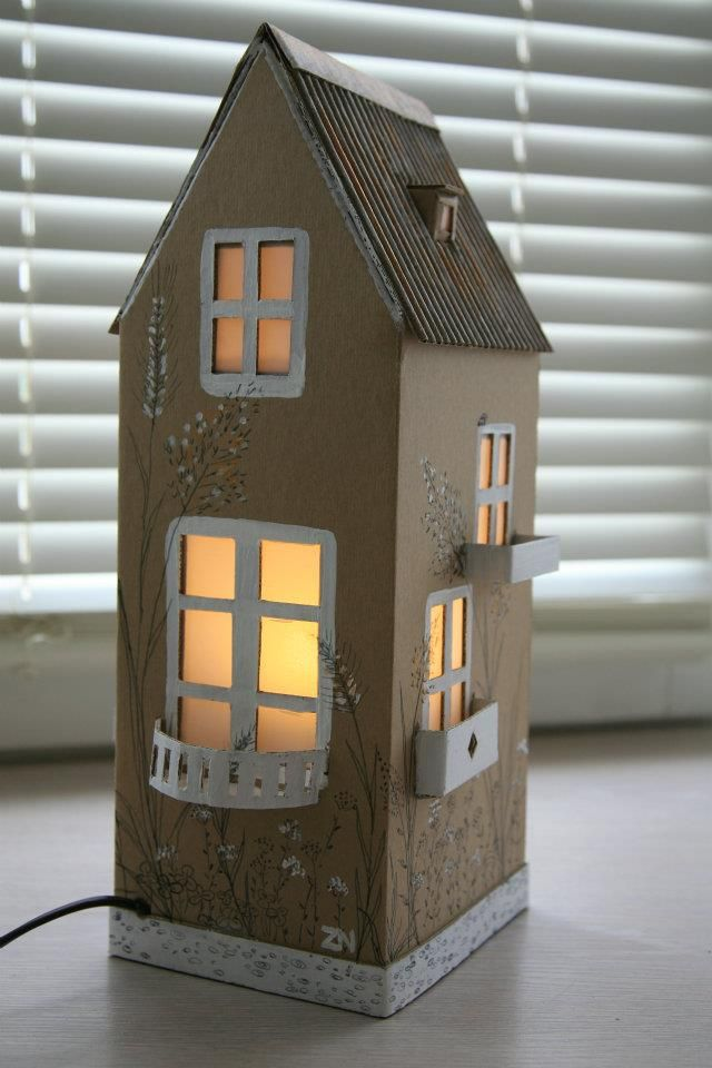 "Cardboard lamps InspireFirst. Cute for a ""tooth fairy"