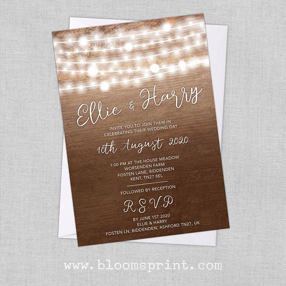 Custom Wedding Invitations Printed or Printable PDF Wedding