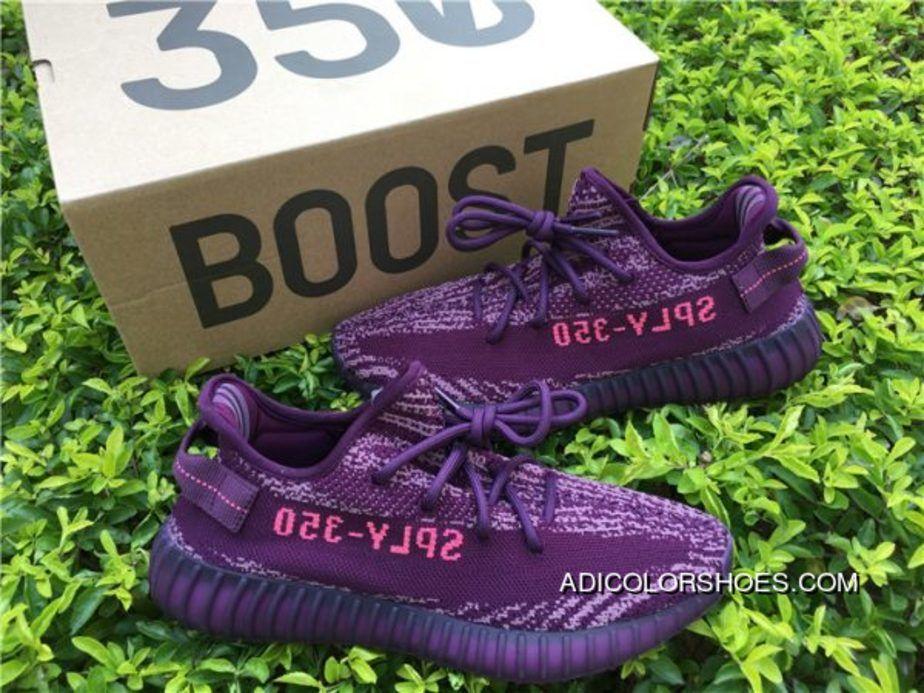 Adidas Yeezy Boost 350 V2 Red Night Chalk Purple Chalk Pink