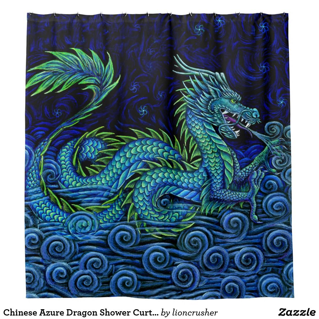 Chinese Azure Dragon Shower Curtain Zazzle Com In 2019 Chinese