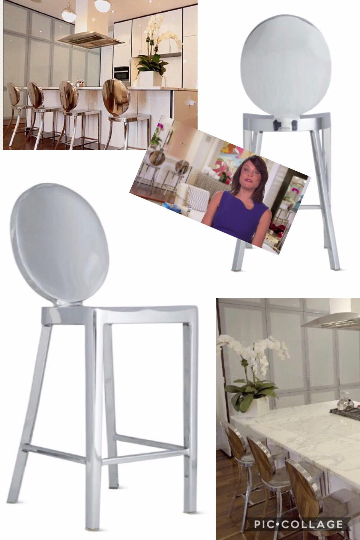 Charming Bethenny Frankelu0027s Silver Mirrored Chair Season 7 Real Housewives Of New  York Interior Design / Furniture ...