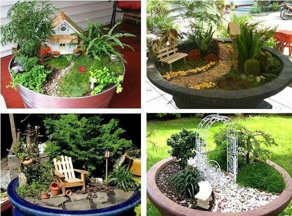 Peque os jardines jardineria garden plants y mini for Jardines hermosos pequenos