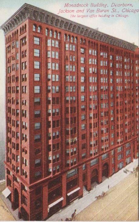 Монаднок-билдинг (Monadnock Building), Чикаго, арх. Д. Бернем, Дж. Рут, 1891 г.