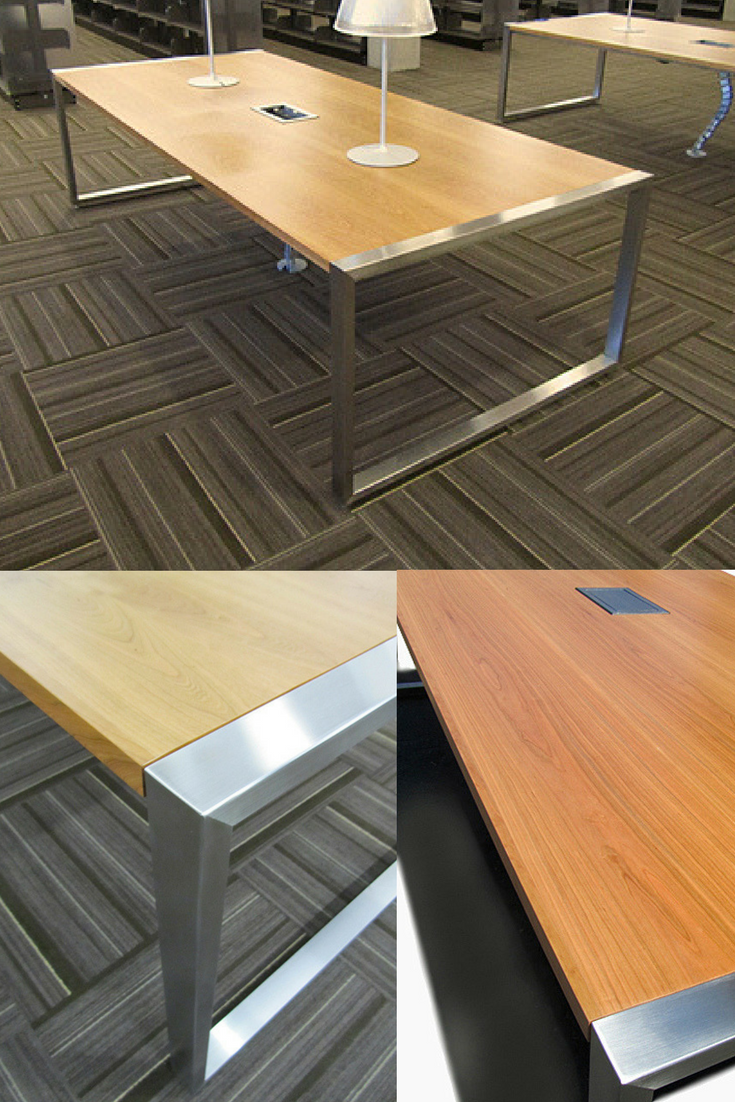 Stainless Steel Table Leg Base for a conference table ...
