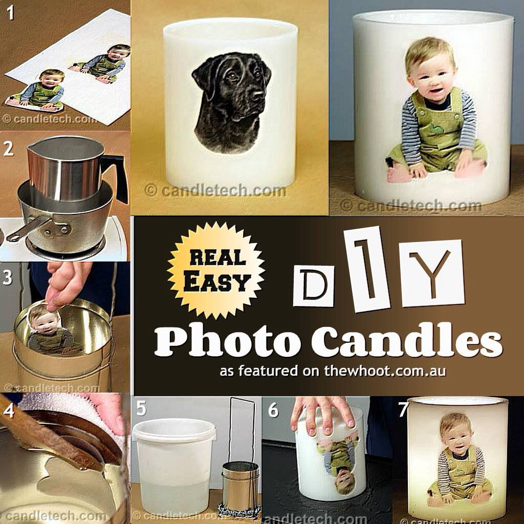 Your own pics or photos on candles